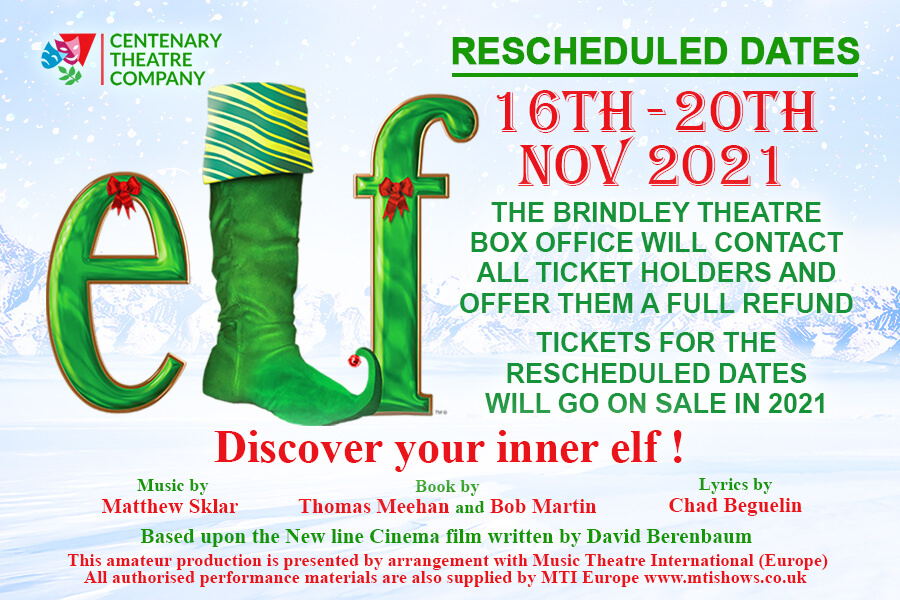 'Elf' production - Save the Date